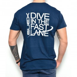 SUEX T-SHIRT BLUE-WHITE